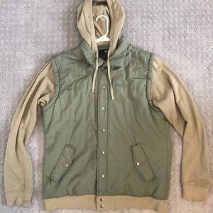RVCA Button Up Sweater/Vest